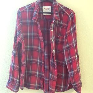 Mossimo Co. women's plaid button up